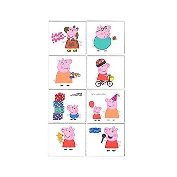 Peppa Pig niños tatuajes temporales de la caja de regalo: Amazon.es: Juguetes y juegos