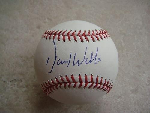 (Autographed David Wells Baseball - Vintage Budig Oal Base Ny Yankees Red Sox Jays - Autographed Baseballs )