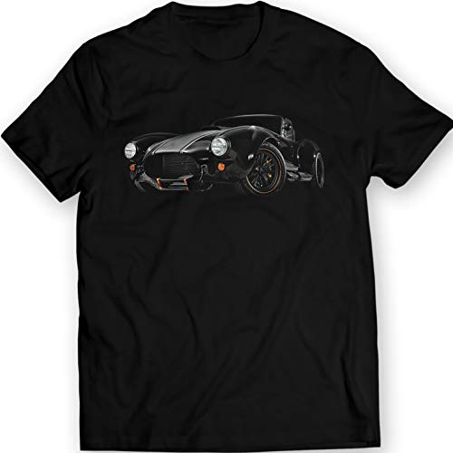 1965 Cobra Racing Car T-Shirt Gift Idea Shelby Backdraft 100% Cotton (XL, Black)