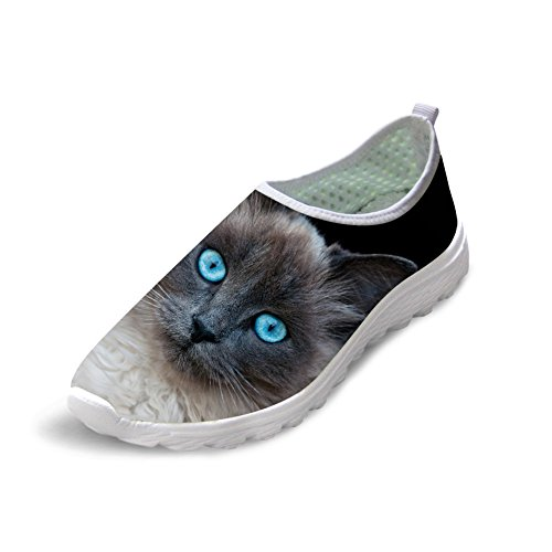 Bigcardesigns Ladys Cat Print Casual Athletic Walking Running Shoes 37