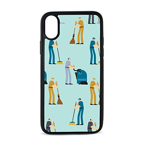 Broom Home Supplies Hand-Painted Digital Print TPU Pc Pearl Plate Cover Phone Hard Case Cell Phone Accessories Compatible with Protective Apple Iphonex/xs Case 5.8 Inch