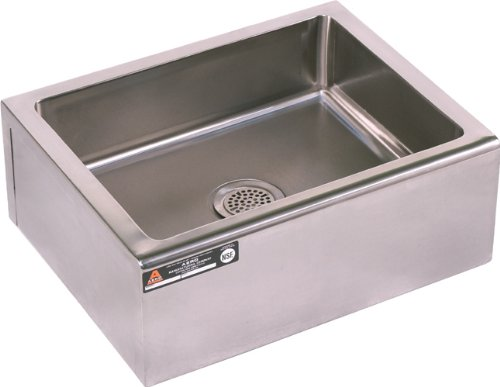 Aero floor-mounted 16 gauge stainless steel mop sink