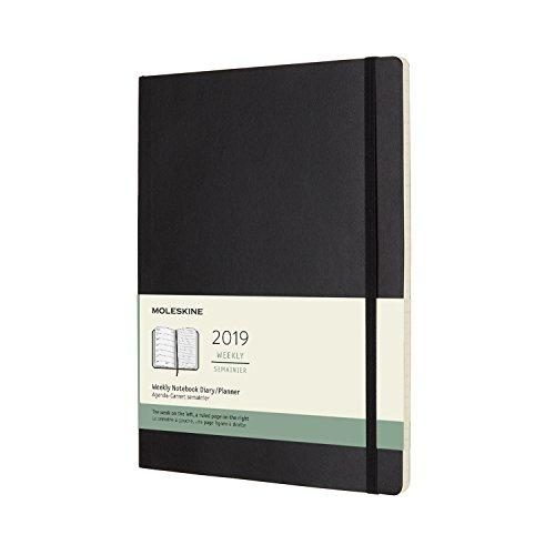 (Moleskine Classic Soft Cover 2019 12 Month Weekly Planner, XL (7.5