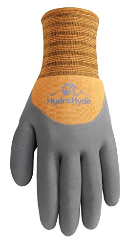HydraHyde Cold Weather Work Gloves, Water-Resistant Latex Coating