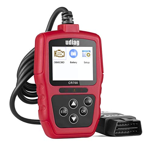 udiag [New Update] OBD2 Scanner Code Reader Car Diagnostic Tool with Reset CR700 Universal