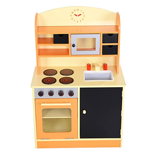 Price comparison product image Wood Kitchen Toy Kids Cooking Pretend Play Set Toddler Wooden Playset