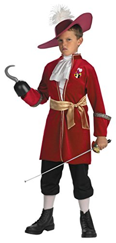 [Boys Captain Hook Classic Kids Child Fancy Dress Party Halloween Costume, S (4-6)] (Captain Hook Costumes Disney)