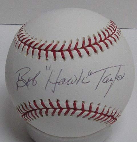 Braves Bob Hawk Taylor D Autographed Official MLB Basebal Signed '57 Ws Champ Certified Authentic