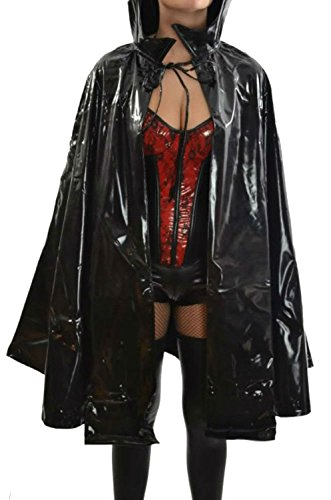Vinyl Gothic Costume Vampire Sorceress Sorcerer Wizard Evil Queen Fantasy Unisex Cape