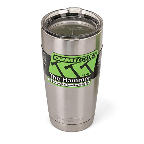 OEMTOOLS 26009 The Hammer Stainless Steel Insulated Tumbler