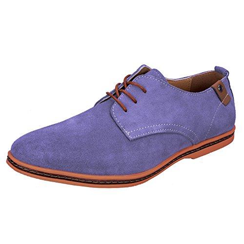 Zapatos Gray Oxford WhiFan de de Hombre Zapatos Vestir Derby Cordones Casuales Zapatos Casual con Cuero qSpZSw