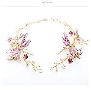 Dreamstar Wedding Bridal Prom Butterfly Flower Pearl Alloy Hair Headband Hair Band Tiara & Ribbon 37