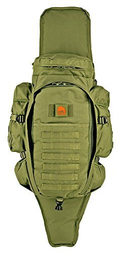 Green Sniper Rifle (Lost Woods 9.11 Tactical Full Gear Rifle Backpack - Black (Olive Green))