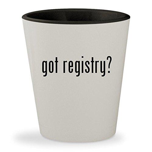 got registry? - White Outer & Black Inner Ceramic 1.5oz Shot Glass
