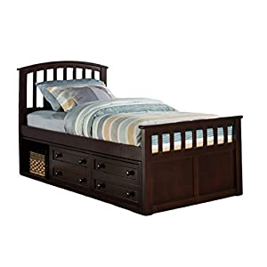 NE Kids 2311CCTB Hillsdale Charlie Captains Bed with One Storage