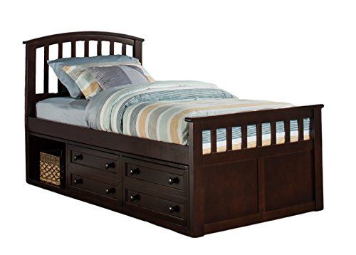 Hillsdale Furniture 2183CCTB Hillsdale Charlie Captains Storage Bed Twin ()