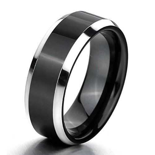[Epinki,Fashion Jewelry Men's Tungsten Rings Band Silver Black Comfort Fit Wedding Polished Elegant Size 12] (Boxing Costume Walmart)