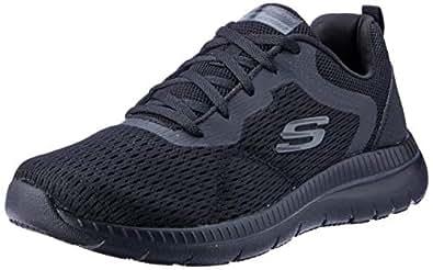 Skechers Bountiful - Quick Path Women's Sneakers, Black/Black, 5 US