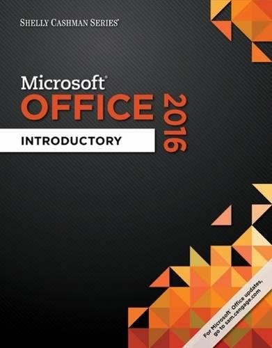 Shelly Cashman Series Microsoft Office 365 & Office 2016: Introductory cover
