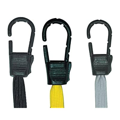 PROGRIP 670600 Gorilla Grip Flat Bungee Cord Assortment with Hooks (Pack of 6): Automotive