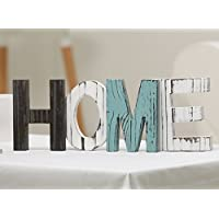 MyGift Rustic Wood HOME Decorative Sign, Standing Cutout...