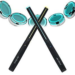 AEROBAND Drum Sticks Air Electronic Drum Set with Light, Bluetooth Wireless Connection Pocketdrum, 3 Modes Portable…