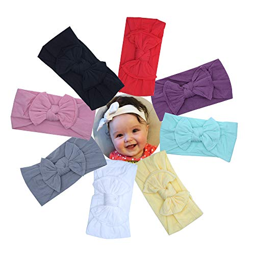 Baby Girl Headbands Bows Super Stretchy Newborn Toddlers Nylon Hairbands Kids Hair Accessories
