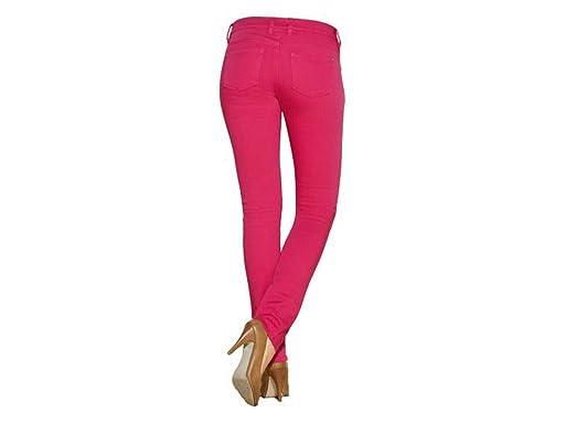 ed0e30ecad629c Esmara Damen Stretchhose Jeggings Hose Verschiedene Farben und Größe  wählbar (36, Pink)