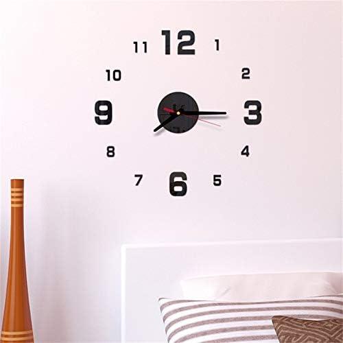 Amazon.com: 2019 Fashion DIY Self Adhesive Interior Wall Creative Decoration Clock Mute Clock Stickers Muraux Wall Clock Hot - Black: Arts, Crafts & Sewing