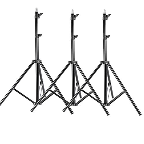 Neewer® 3 Pieces 6ft/75 inch/190cm Photography Tripod Light Stands For Studio Kits,Video, Lights, Softboxes, Reflectors, etc. (Light Stand Softbox)