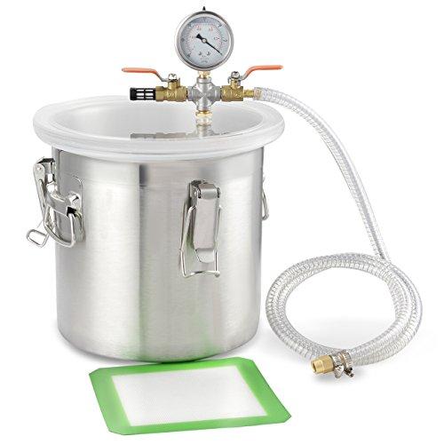 arksen-2gallon-stainless-steel-vacuum-chamber-200mm-degas-urethanes-epoxies-rubber