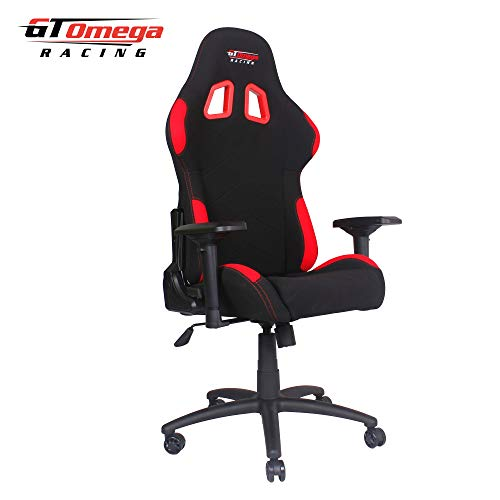 GT OMEGA PRO RACING OFFICE CHAIR BLACK WITH SIDE RED FABRIC: Amazon.es: Hogar
