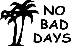 Amazoncom No Bad Days Hawaii Palm Trees Vinyl Decal Sticker Bumper