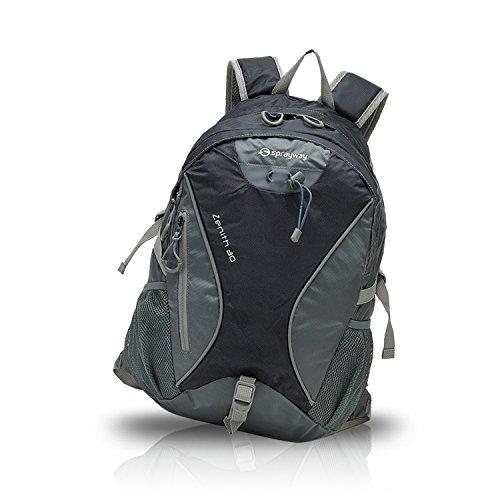 FANDARE Deporte Alpinista Mochila Backpack Para Ordenador Portátil 15.6'' Recorrido Morral al Aire Libre Impermeable Viaje Ocio Escuela Bolso Mujeres Hombres Ultra Ligera Multifunción Oxford Negro Negro