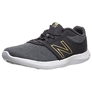 New Balance Women's 415v1 Walking-Shoes, Black/Classic Gold, 7.5 D US
