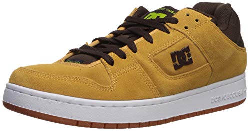 DC Men's Manteca SE Skate Shoe, Brown/Green, 8.5 M US