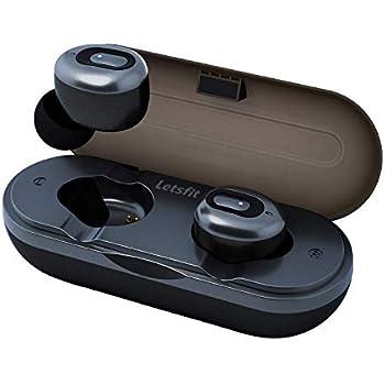 Wireless Earbuds, Letsfit True Wireless Bluetooth Headphones, 3D Stereo Sound in-Ear Earphones, 3 Hours Playtime, Bluetooth 5.0 Wireless Headphones with ...