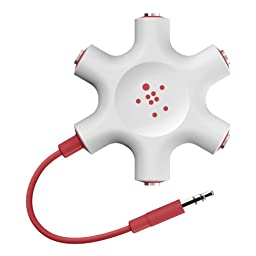Belkin Rockstar Multi Headphone Splitter (Red)