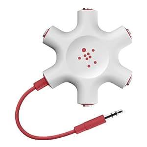 Belkin RockStar 5-Jack Multi Headphone Audio Splitter (Red) (F8Z274btRED)