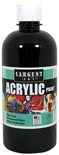 Sargent Art 24-2485 16-Ounce Acrylic Paint, Black