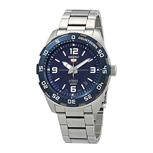 (Seiko 5 Sports SRPB85 Men's Stainless Steel Blue Dial 100M Automatic Watch)