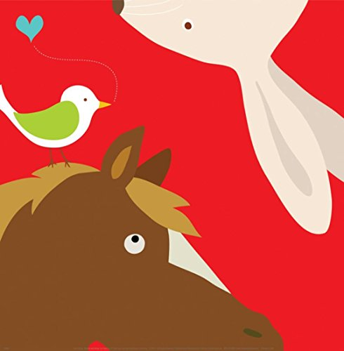 Farm Lau Yuko - OKSLO Farm Group: Rabbit and Horse Art Print By Yuko Lau - 12x12