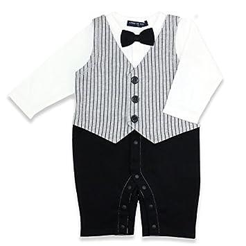 b57387d4b93ac ベビー 子供服 フォーマル 男の子 カバーオール ロンパース タキシード風 オフ白 80cm 20661409OW80
