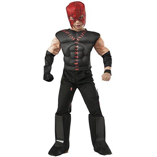Kane Costumes (Rubies WWE Deluxe Muscle-Chest Kane Costume, Child Medium)