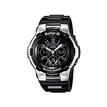 Casio Women's Baby-G BGA110-1B2C Black Resin Quartz Watch with Black Dial