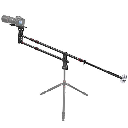 Neewer 70 inches/177 Centimeters Aluminum Alloy Jib Arm Camera Crane with 1/4 and 3/8-inch Quick Shoe Plate, Counter Weight for DSLR Video Cameras,Load up to 8 kilograms/17.6 pounds (Crane Jib Head)