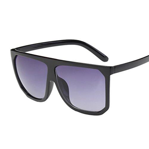 beab6e4090323 Ecurson Women Men Vintage Retro Square Frame Glasses Unisex Fashion Aviator  Sunglasses (D)