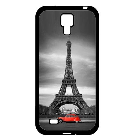 (Infinity The Eiffel Tower With Red Car Best Case Protection for Samsung Galaxy S4 I9500, Custom Samsung S4 Phone Slim Carring Cases Funny For)
