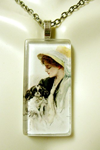 (American beauty with Japanese Chin glass pendant - DGP02-401 - Harrison Fisher)