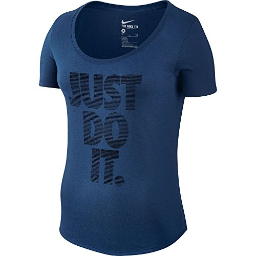 Nike SCP Paper Just Do It MRG Women's T-Shirt Navy Blue/White 803954-423 (Size L)